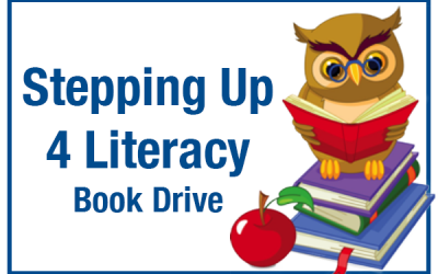 Stepping Up 4 Literacy Book Drive