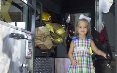 Firefighters visit HA's 3P classes to discuss fire prevention
