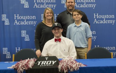 Tanner Jackson signs baseball scholarship with Troy University
