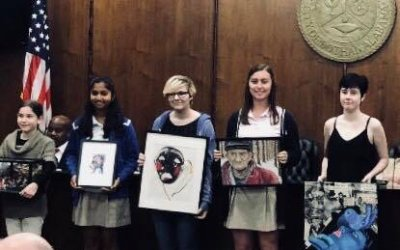 Vaishnavi Chennareddy named overall middle school winner and was recognized by Mayor Saliba