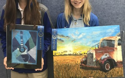 Six HA students advance to the AISA state competitions after successful District Art Show performances