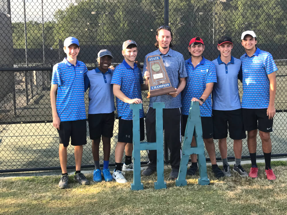 Houston Academy Boys Tennis team captures state title