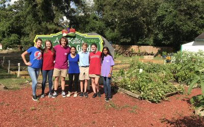 HA students visited Auntie Katie's Community Garden as part of our Global Citizenship Initiative