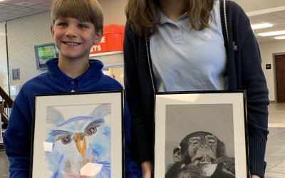 Pair of HA students win City of Dothan Art Awards that are on display at the Wiregrass Museum of Art