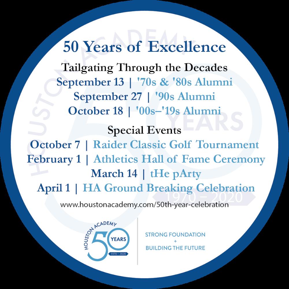 Wiregrass Calendar February 2020 50th Year Celebration   Houston Academy