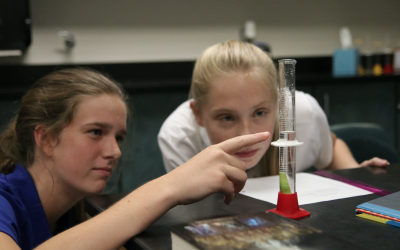 Upper School students thrive in Biology lab incorporating metric measurements and the scientific method