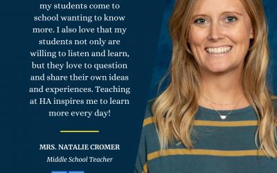 Teacher Tuesday Spotlight: Mrs. Natalie Cromer