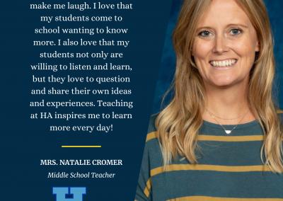 Mrs. Natalie Cromer